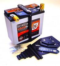 Braille Vertical Aluminium Battery Mount Kit (211)