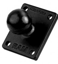 "RAM 2"" x 1.7"" Base with AMPs and 1"" Ball for the Garmin zumo, TomTom Rider RAM-B-347U"
