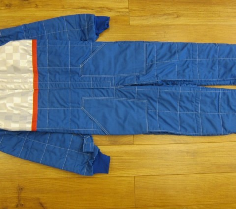 ERG Kart Race Suit Blue/white Large size