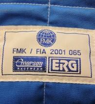 ERG Kart Race Suit Blue/white Large size