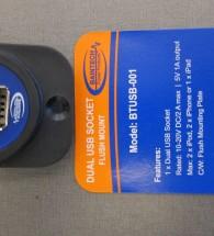 BAINTECH Dual USB Socket Flush Mount BTUSB-001