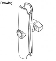 "RAM Long Double Socket Arm for 1"" Ball Bases. Overall Length: 6"" (RAM-B-201U-C)"